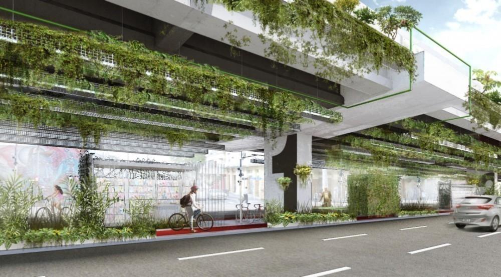 jardin colgante proyecto arquitectura