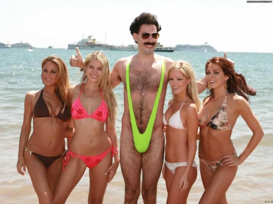 db5871f147ff Multan a unos turistas por ir con el bañador de Borat y Sacha Baron ...
