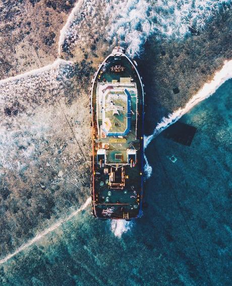 Dron barco
