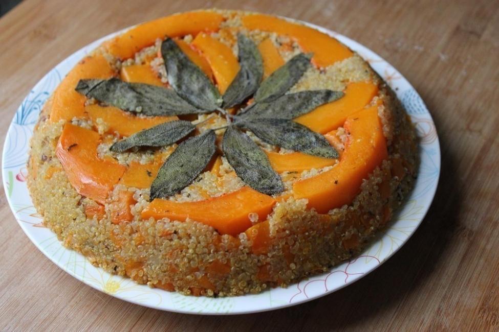 Tarta de quinoa y calabaza