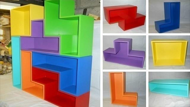 estantería tetris