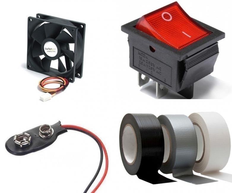 Hacer un ventilador casero - materiales