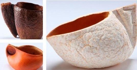 Artesanías con cáscara de naranja- cuencos