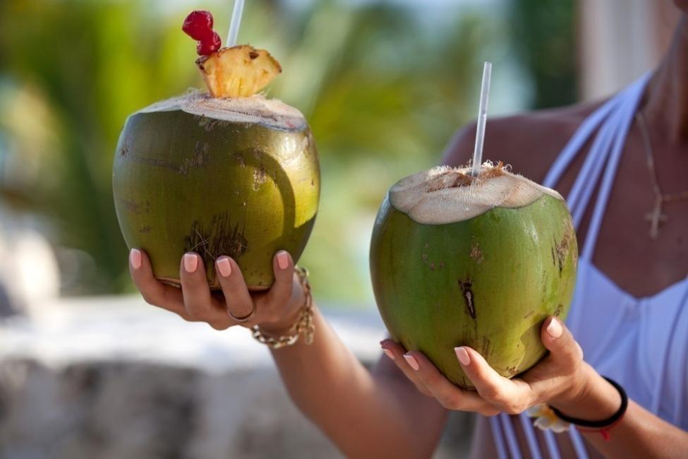 test de frutas - coco
