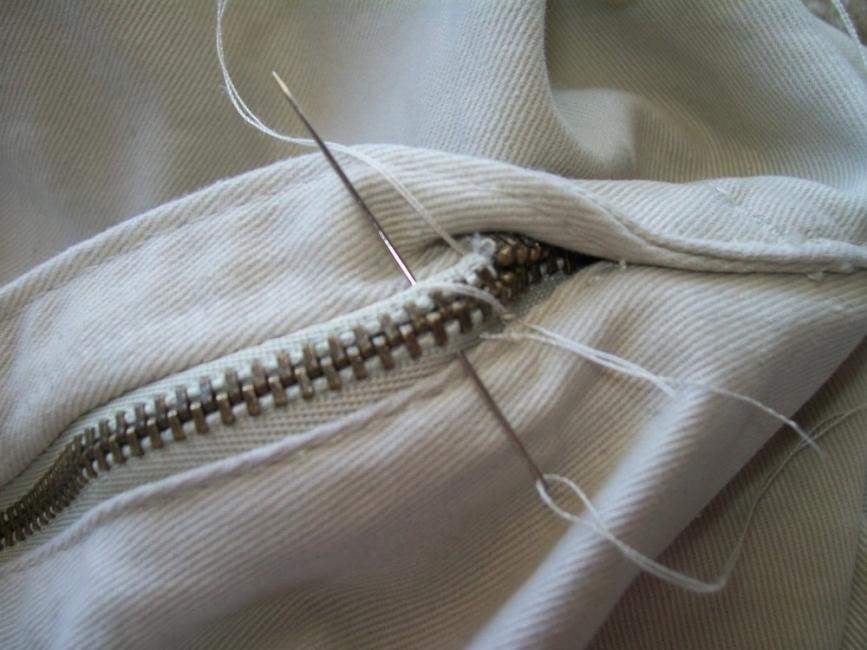 reparar un cierre roto- coser