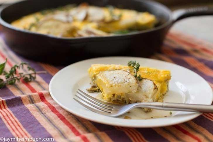 frittata- receta vegetariana