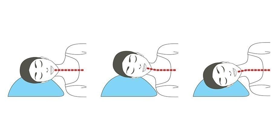 Posición correcta para el cuello al dormir