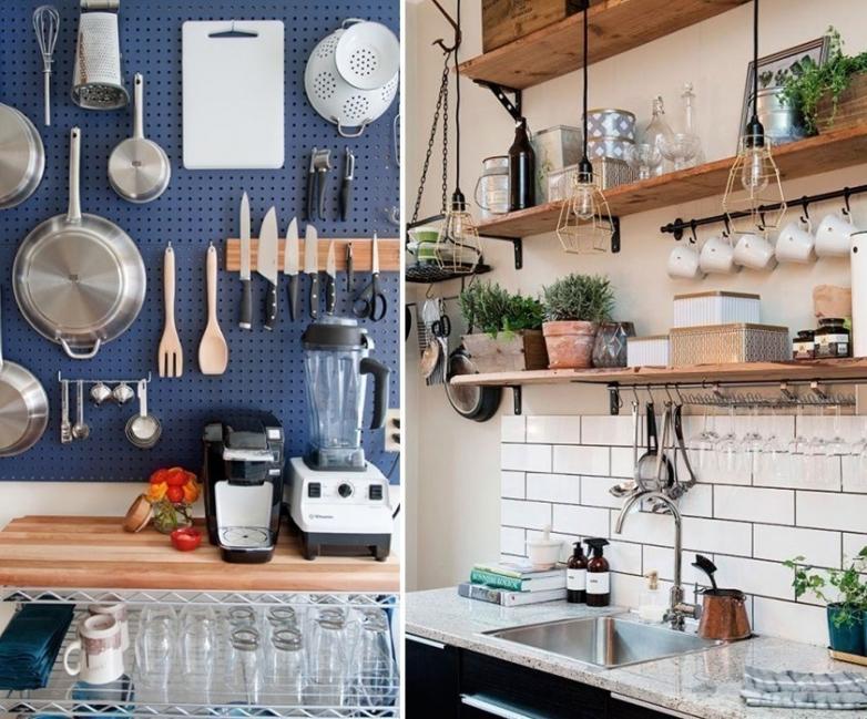 ideas para cocinas pequeñas- ordenar