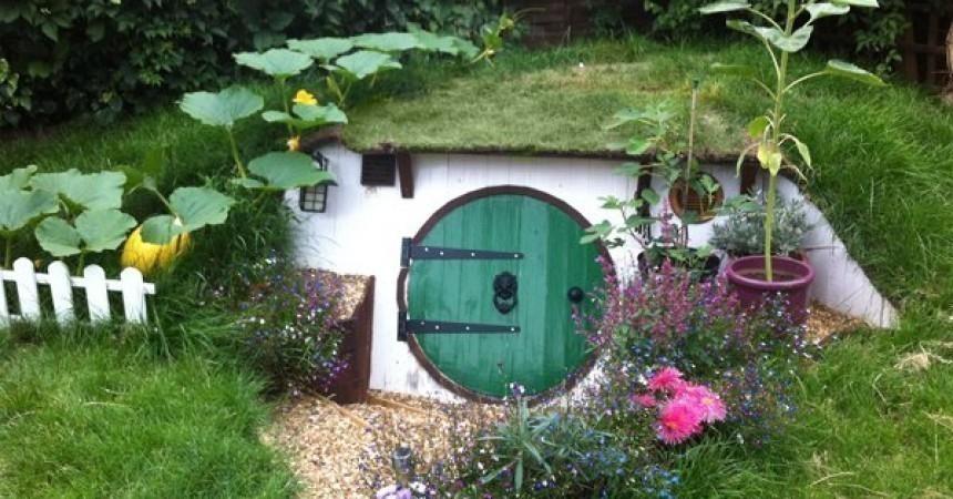 Casa hobbit - jardín