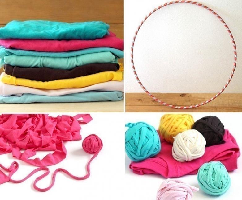 materiales alfombra con hula hula