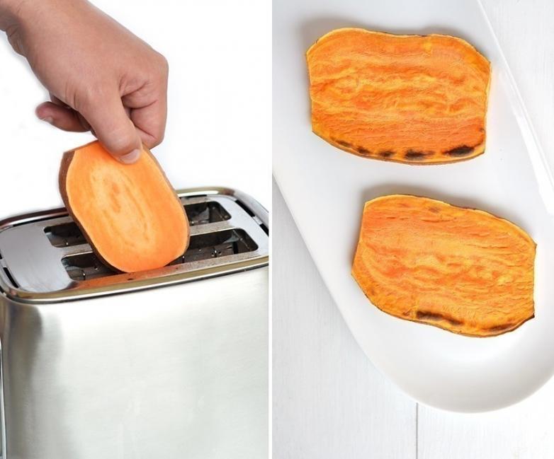 tostadas de batata preparación