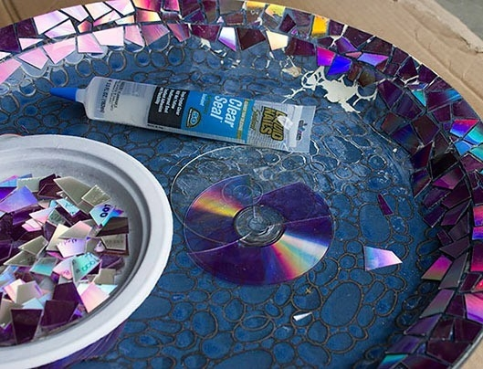 CDs reutilizados - romper cds