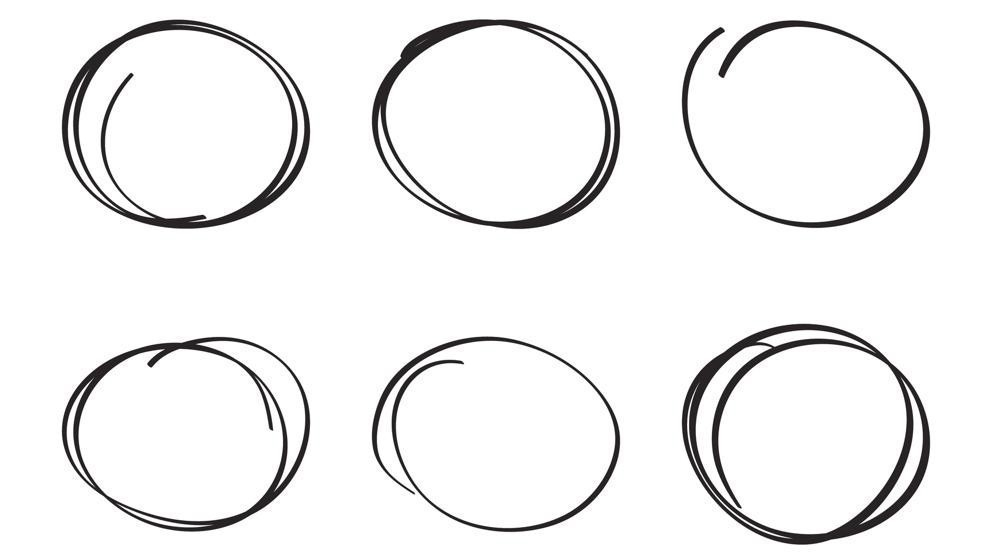los estadounidenses tienden a dibujar el círculo en el sentido contrario de las agujas del reloj