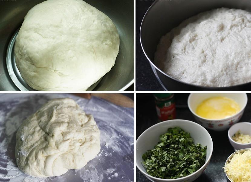 Pan casero de hierbas, ajo y queso - receta