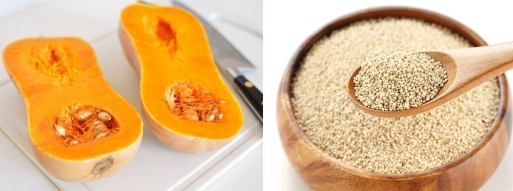 tarta de quinoa y calabaza - ingredientes
