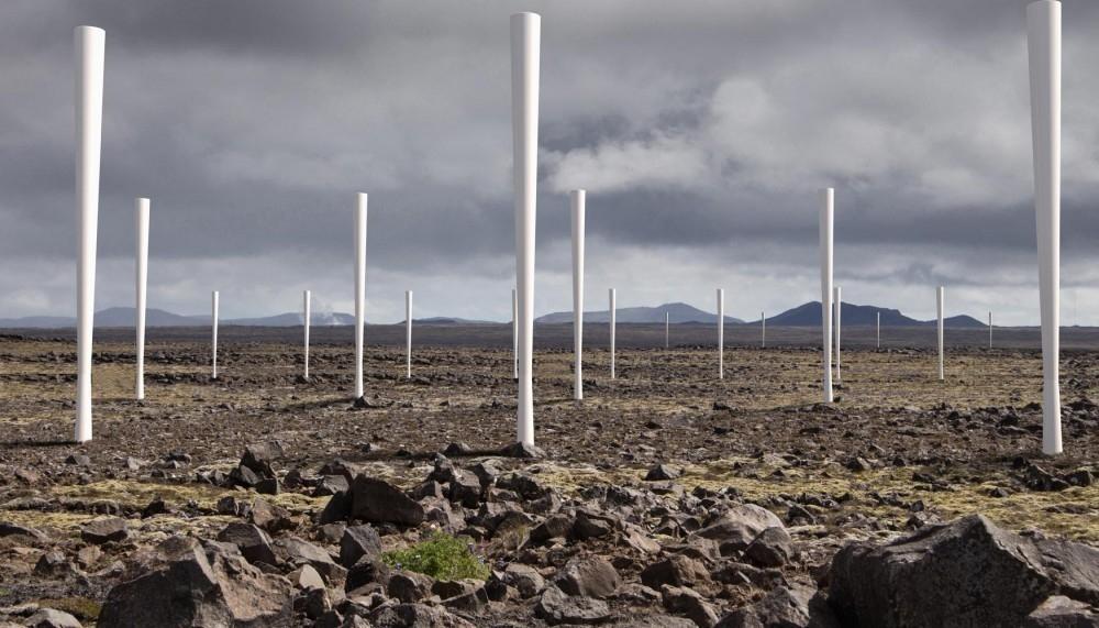molinos de viento que usan aspas ni palas -Vortex Bladeless