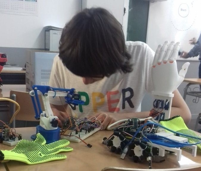 Joel Romero y su prototipo