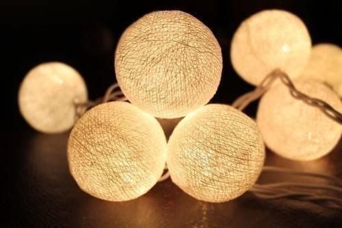 guirnalda de luces - mesa
