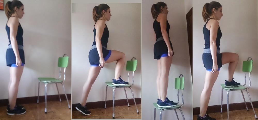 Elevaciones ejercicio piernas y glúteos