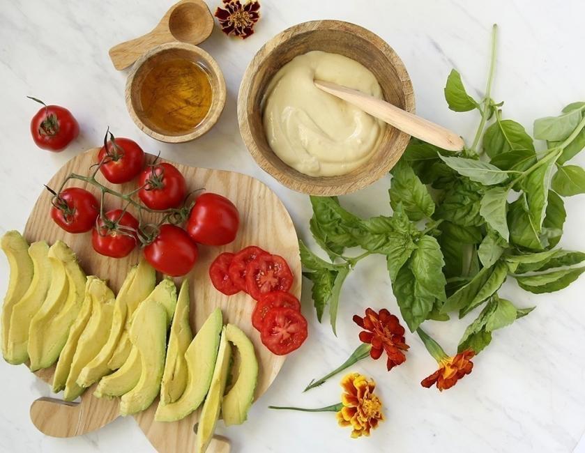 Waffles de espinaca con palta - ingredientes