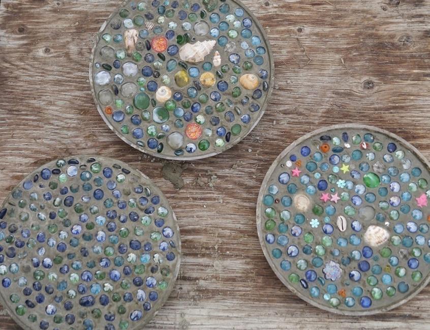 baldosas de mosaicos para tu jardín-