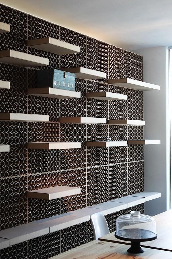 Tubos de cartón - muros construidos con cartón