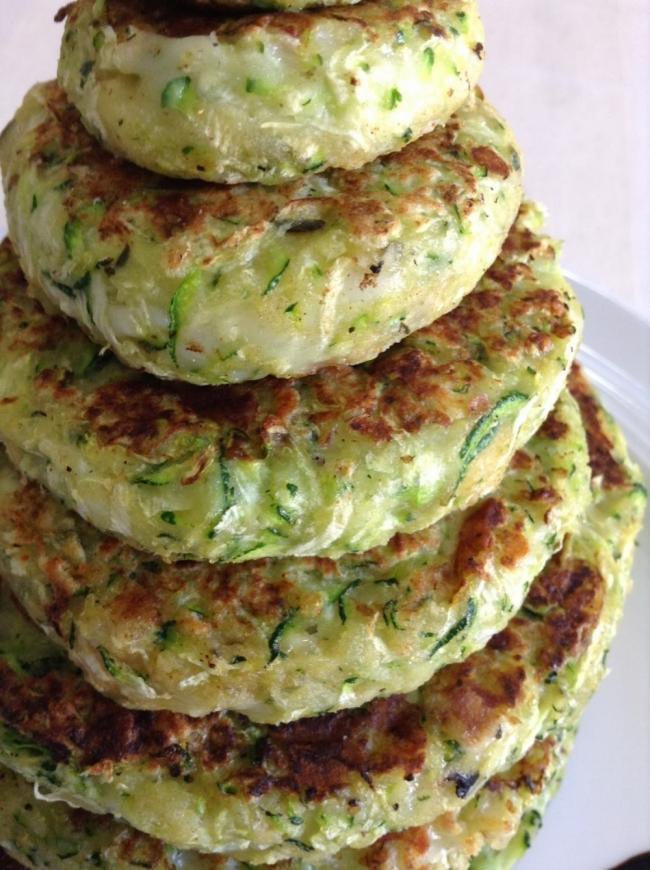 hamburguesas de calabacín o zucchini - presentación