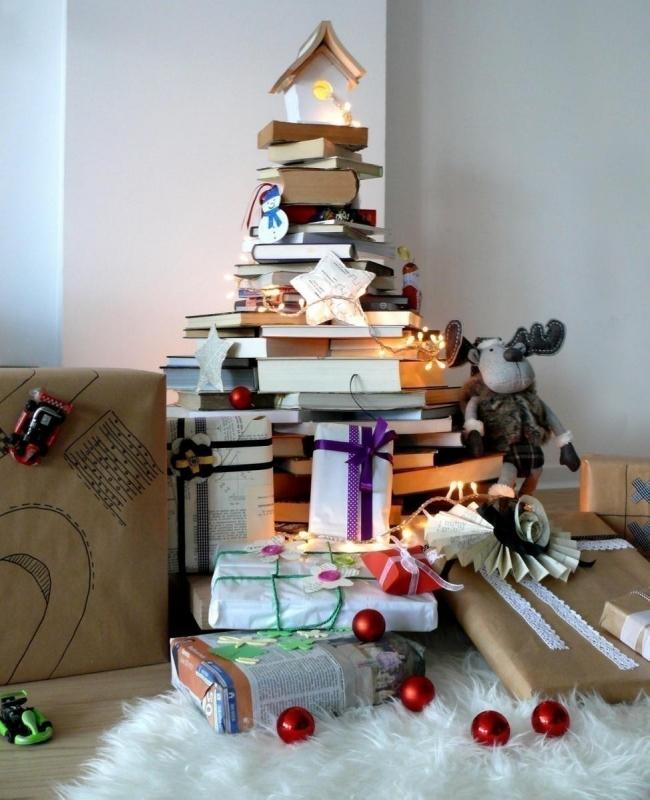 Árboles de Navidad para espacios pequeños - libros