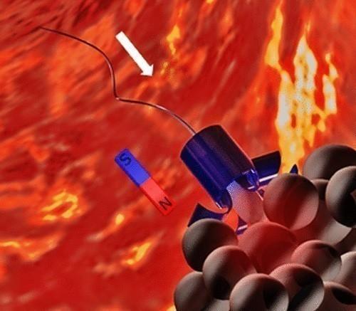 está diseñado para liberar los espermatozoides cuando el micromotor biohíbrido llega a las paredes del tumor