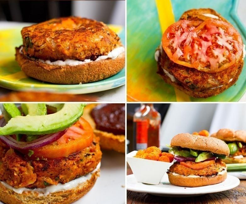 hamburguesas vegetarianas- paso a paso
