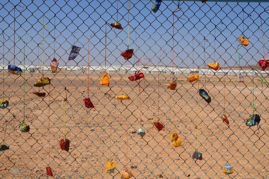 campo de refugiados sirios arte