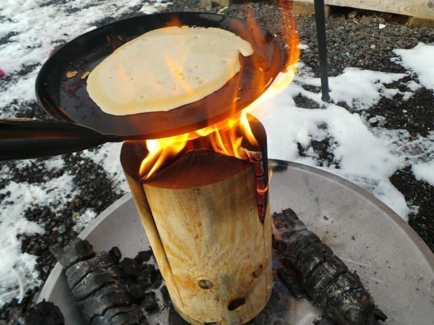 Transformar un tronco en una cocina de exterior - cocina armada