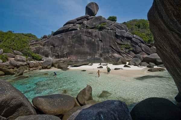 10- Playa en Islas Similan, en Tailandia.