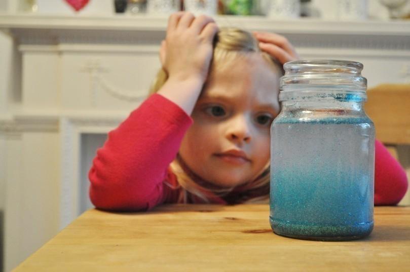 frasco brillante -calmar niños