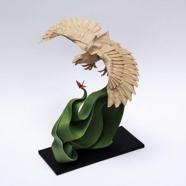 origami aguila