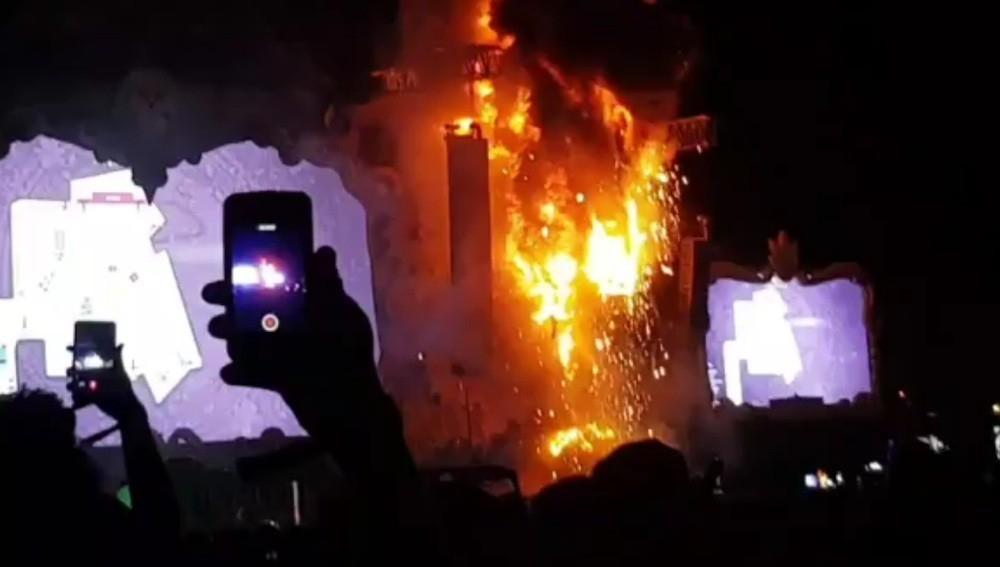 incendio en Tomorrowland