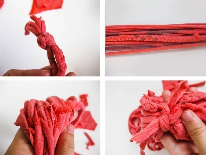 Ideas para hacer con una vieja remera - cómo hacer bufandas con telas