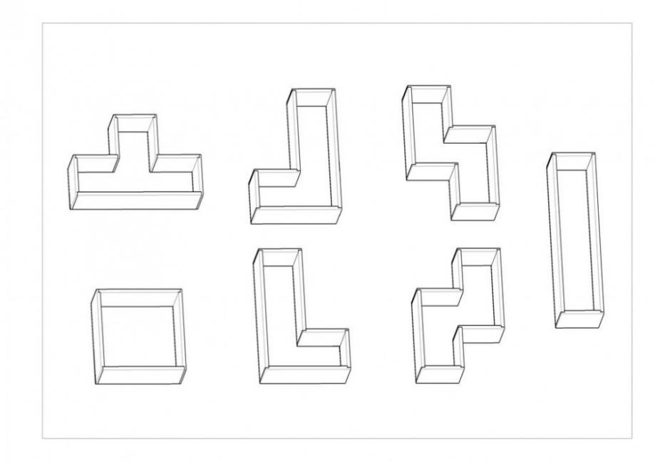 esquema estantería tetris