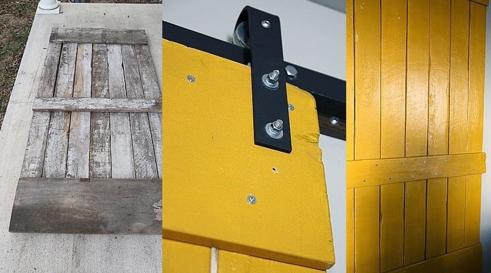C mo hacer una puerta corrediza r stica a partir de palets for Puertas de palets