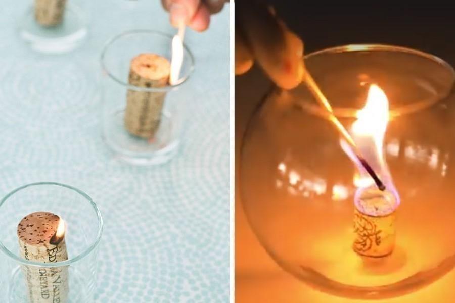 cosas que puedes hacer con un corcho- vela