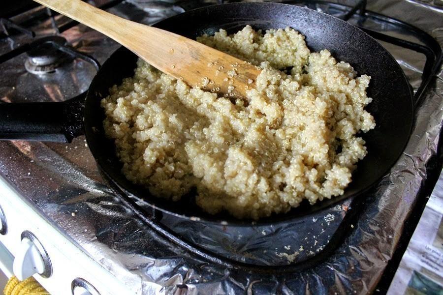tarta de quinoa y calabaza - preparar la quinoa