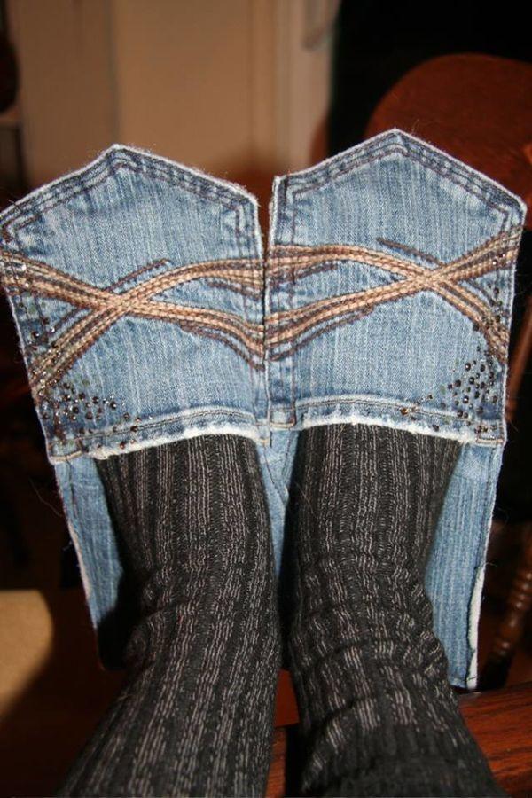 jeans pantuflas
