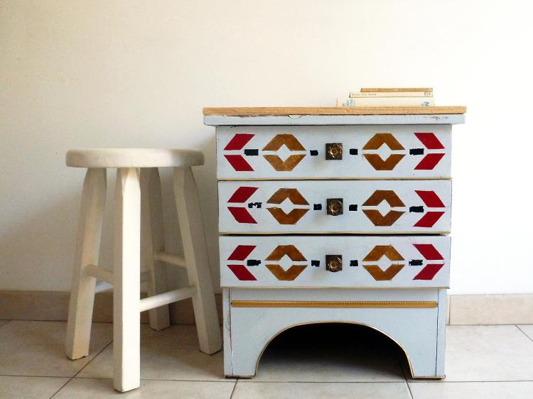 Cómo restaurar un mueble con estilo azteca- terminado