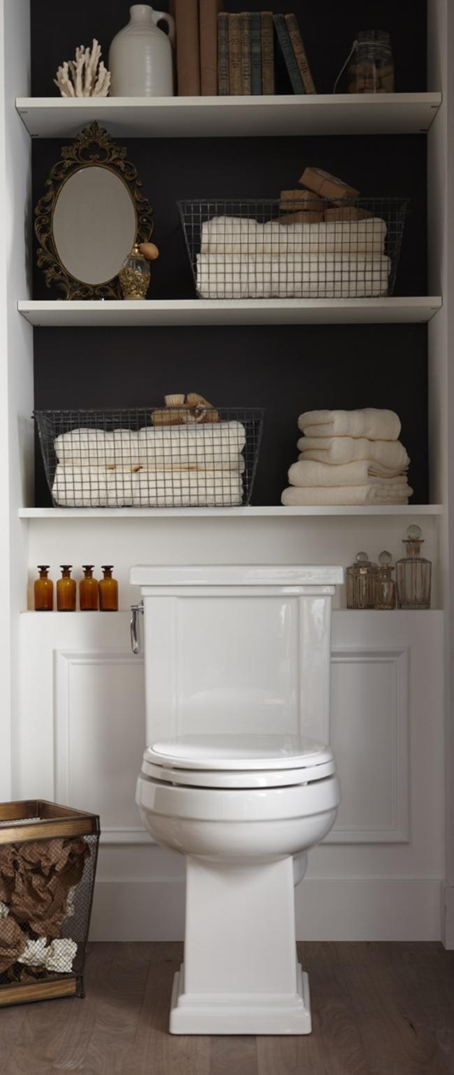 baños pequeños  - espacio sobre el inodoro