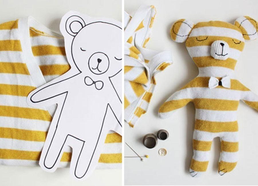 Ideas para hacer con una vieja remera - oso