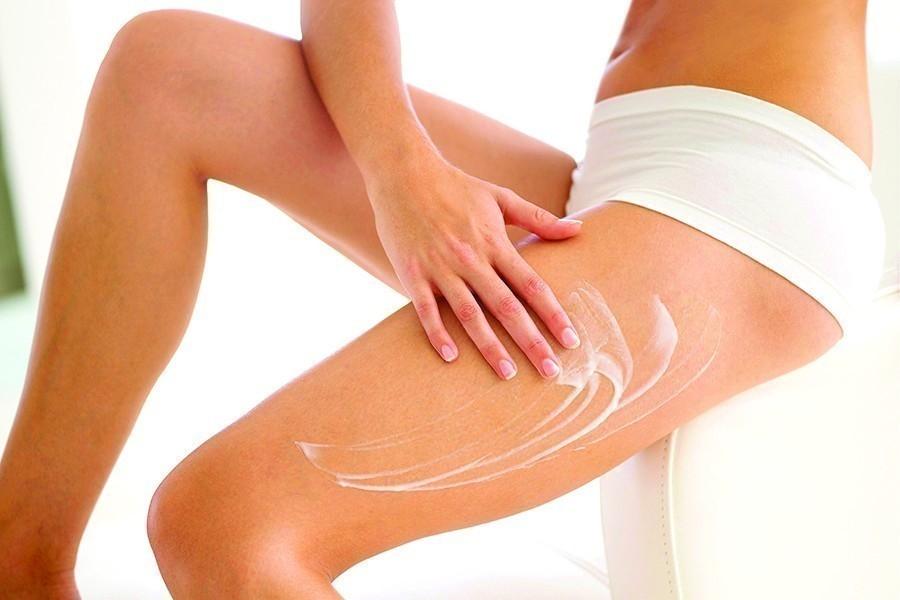 Cómo afinar y reducir las piernas- crema reductora casera- aplicación