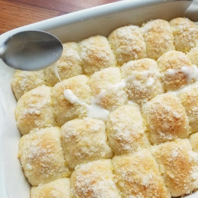 Panecillos de limón con glaseado- horneado