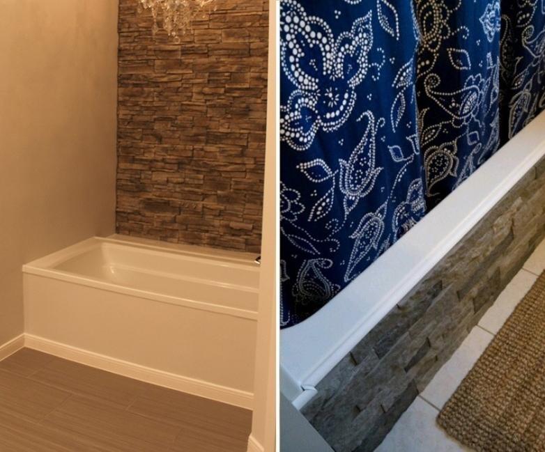 renovar tus espacios con falsa piedra- baño