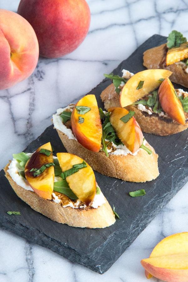Grilled-Peach-and-Whipped-Feta-Crostini