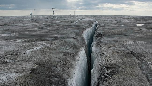 Nieve negra en Groenlandia- causas